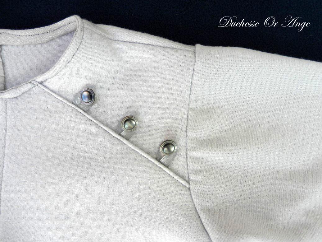 Doa 74 b combinaison b b grise grey baby overalls