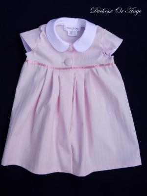 Robe en coton rose, col claudine - 18 mois