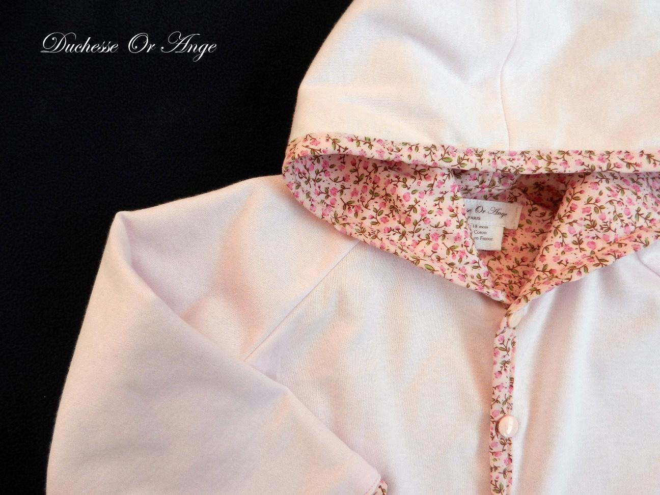 Doa 78 veste b b rose pink baby jacket b