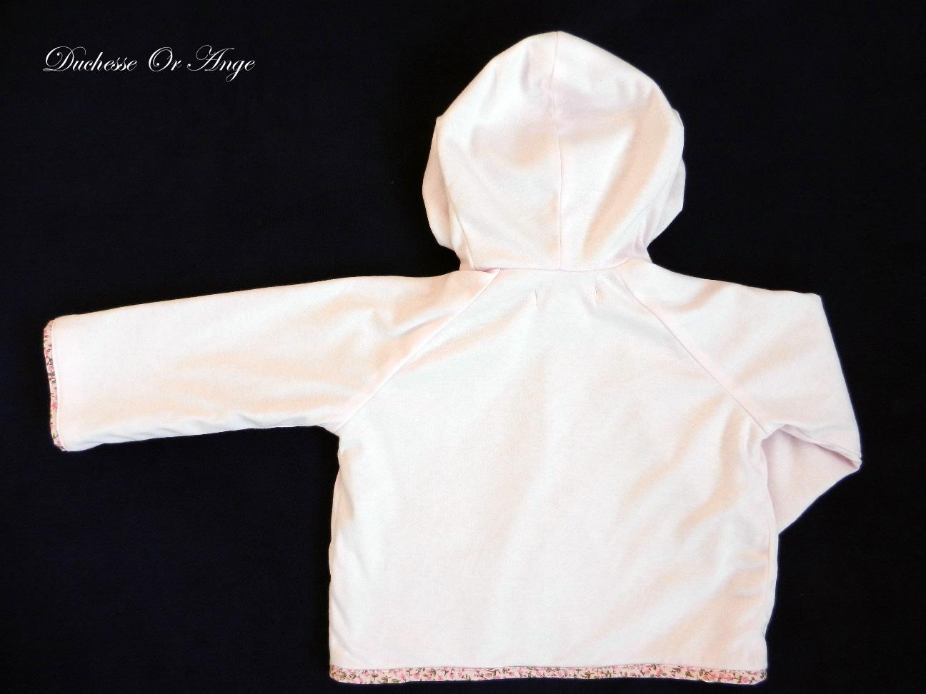 Doa 78 veste b b rose pink baby jacket c
