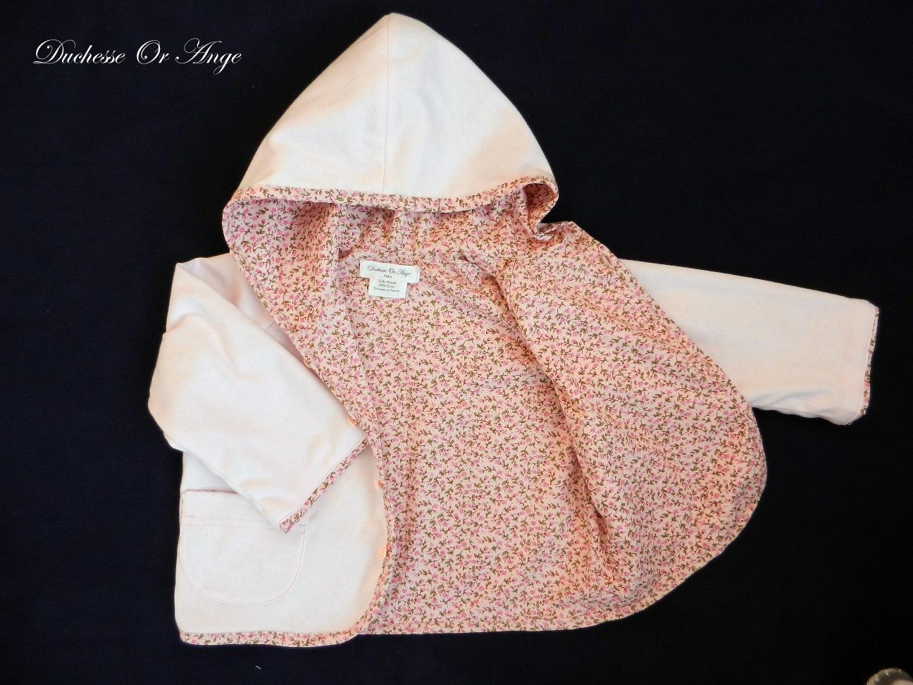 Doa 78 veste b b rose pink baby jacket d