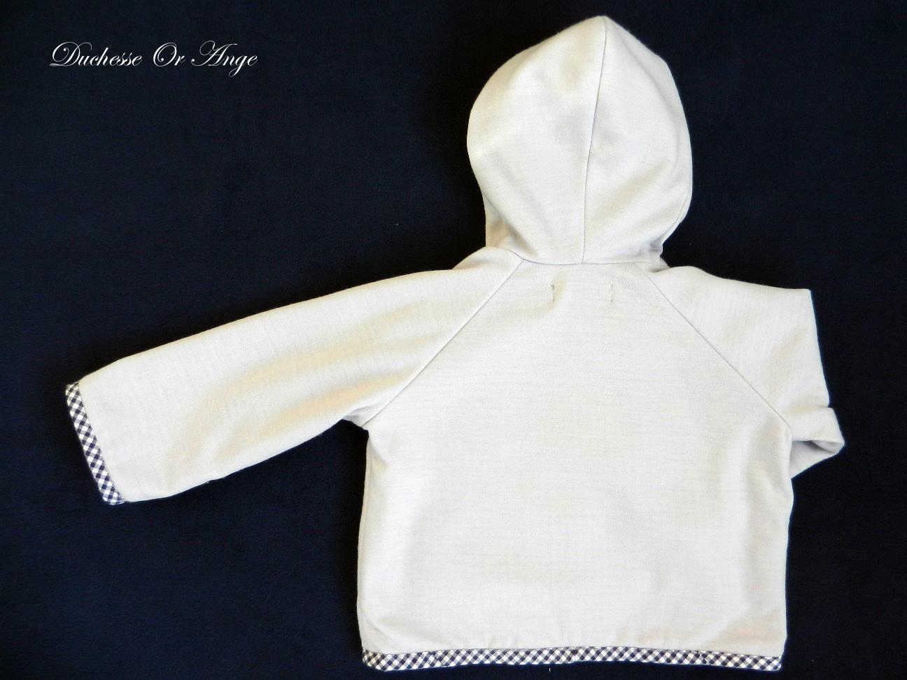 Doa 79 veste b b grise grey baby jacket c