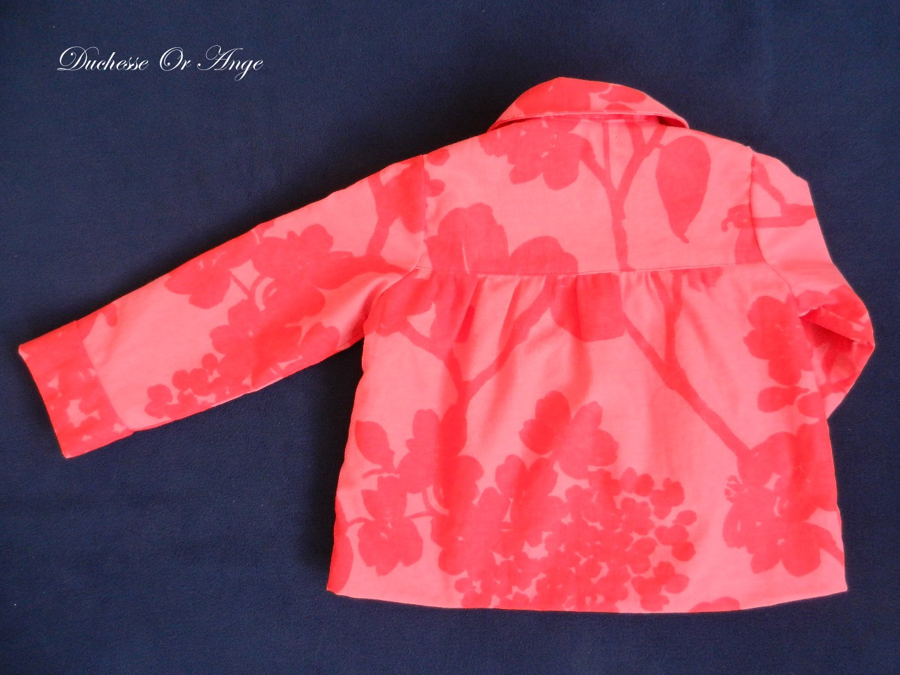 Doa 80 veste enfant rouge et rose red and pink child jacket c