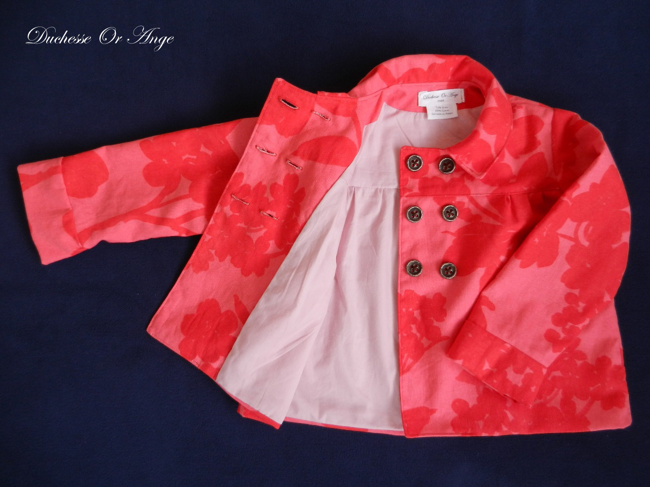 Doa 80 veste enfant rouge et rose red and pink child jacket d