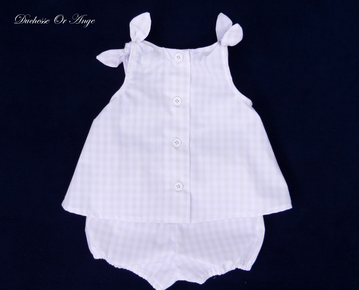 Doa 83 c ensemble b b vichy gingham baby top and short set