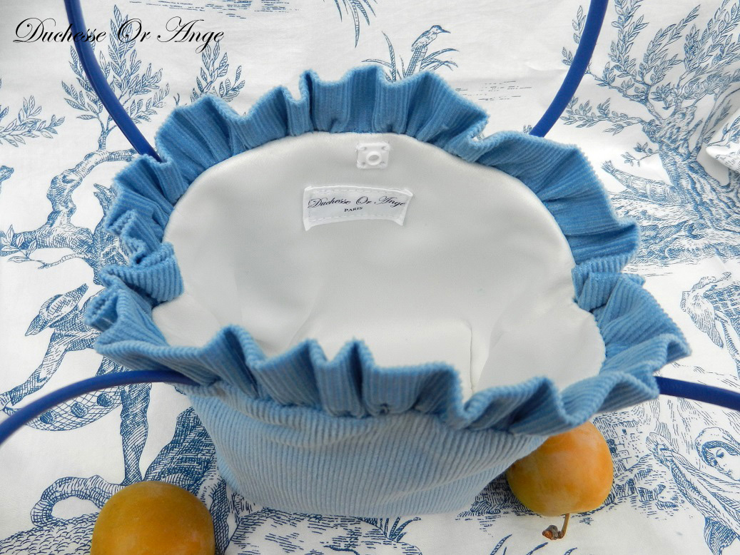 Doaa 1 c sac fille velours bleu blue velvet girl bag
