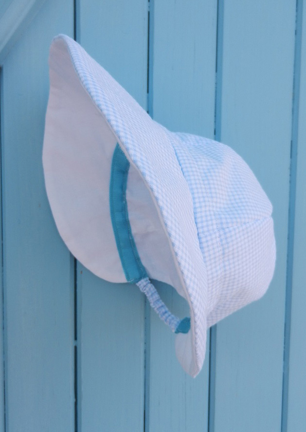 Doaa 13 a duchesse or ange chapeau casquette bebe carreaux bleu blanc