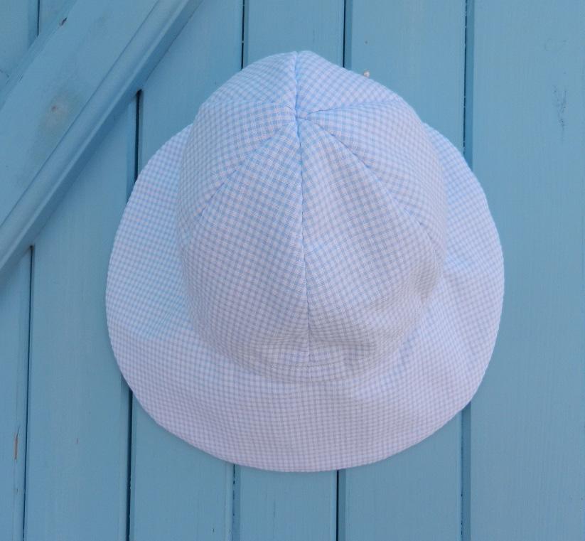 Doaa 13 d duchesse or ange chapeau casquette bebe carreaux bleu blanc