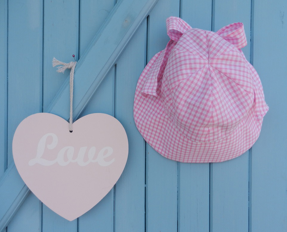 Doaa 14 a duchesse or ange chapeau casquette bebe noeud vichy rose blanc