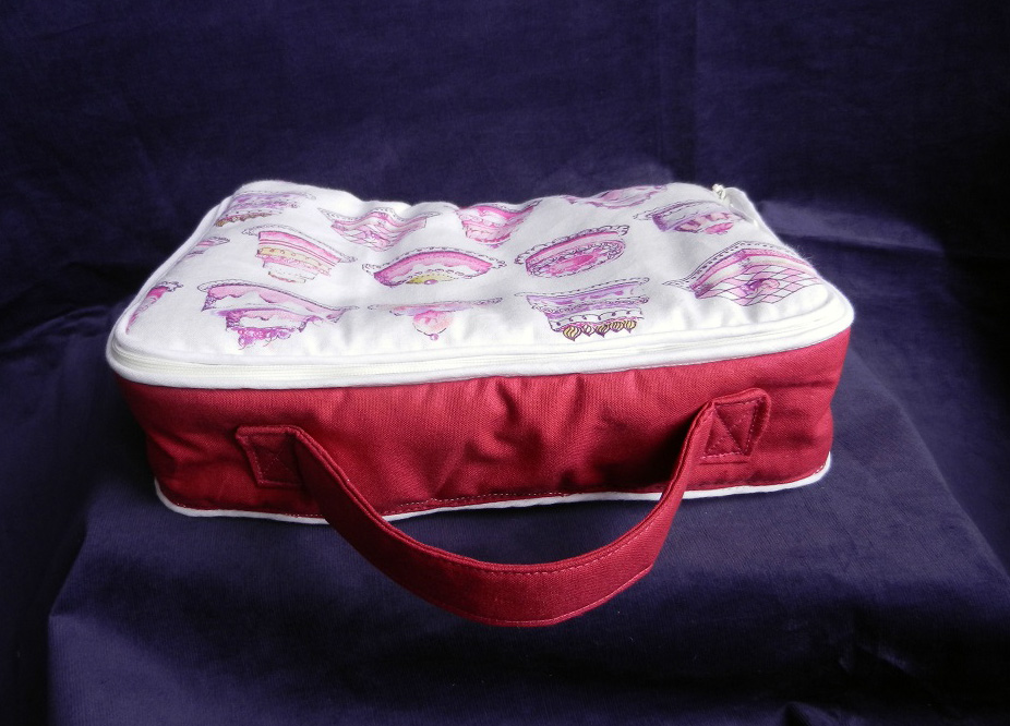 Doaa 18 b duchesse or ange valisette matelassee rose gateaux pink cakes baby suitcase