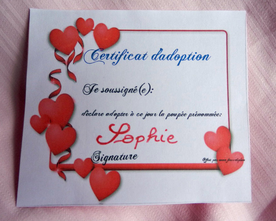 Doap 13 duchesse or ange poupee sophie doll c