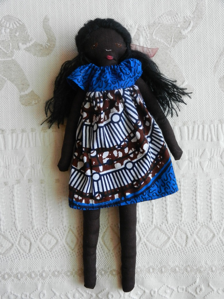 Doap 2 poupee africaine robe bleue a