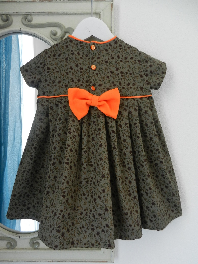 Duchesse or ange 224 c robe bebe verte orange