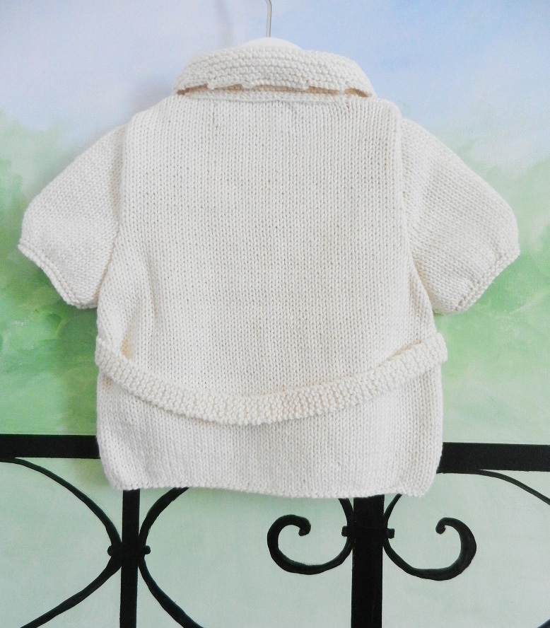 Duchesse or ange 229 d gilet manches courtes creme bebe 1 an