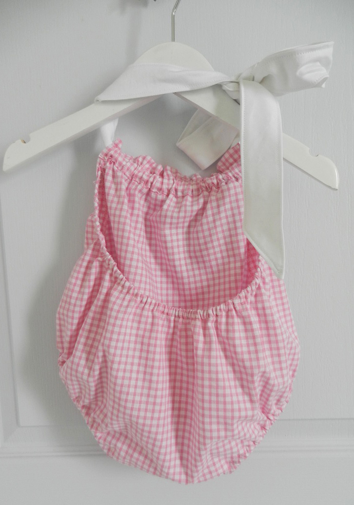 Duchesse or ange 241 c maillot de bain bebe enfant fille fillette rose vichy noeud blanc