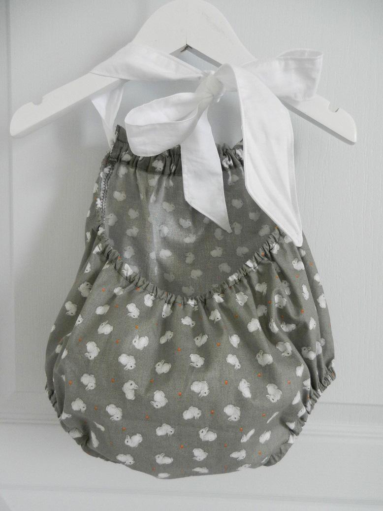 Duchesse or ange 242 c maillot de bain bebe enfant fille fillette gris lapin noeud blanc