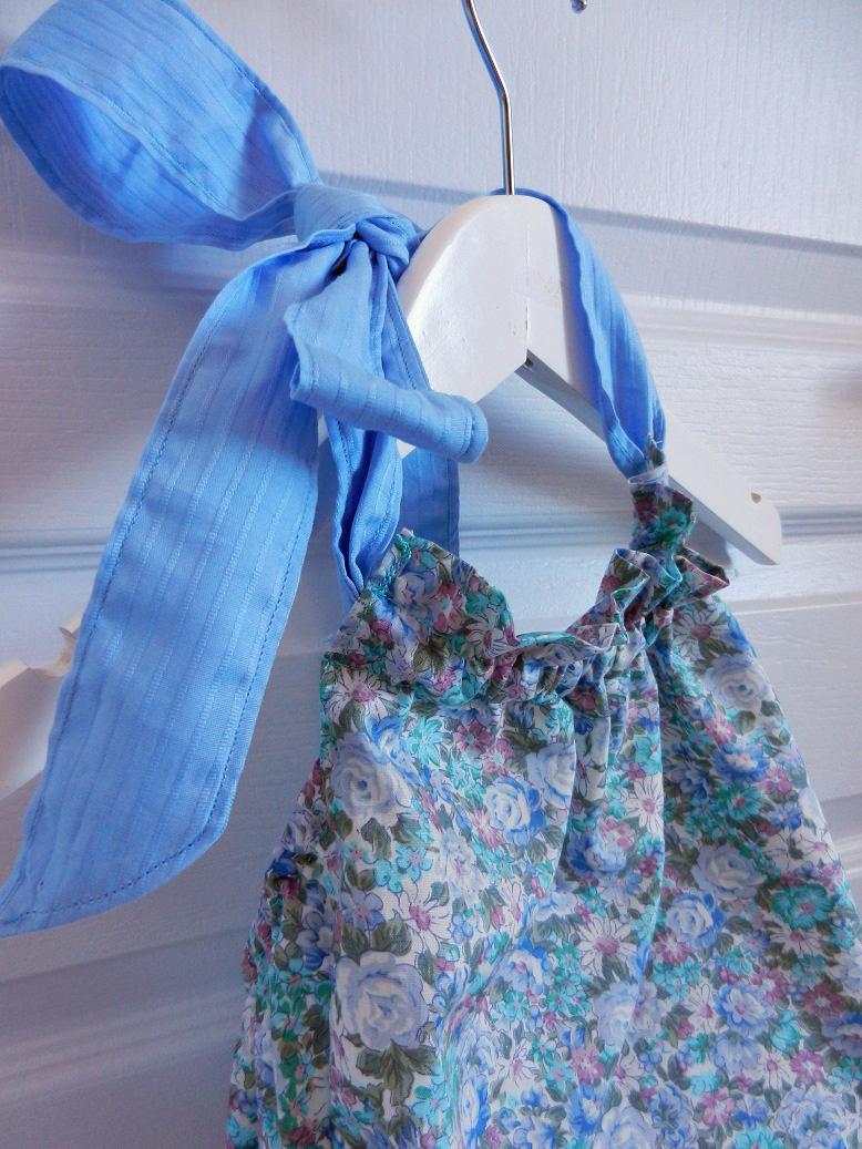 Duchesse or ange 243 b maillot de bain bebe enfant fille fillette bleu vert fleurs coton noeud blanc