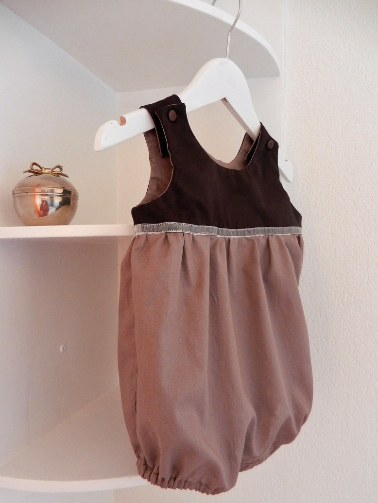 Duchesse or ange 246 d barboteuse bebe marron glace 12 mois brown rompers