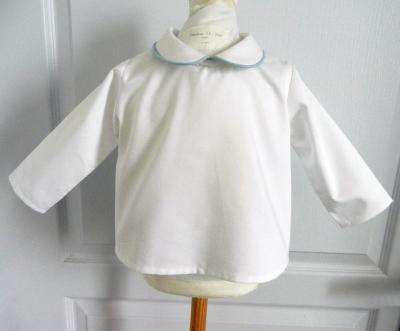 White shirt with peter pan collar
