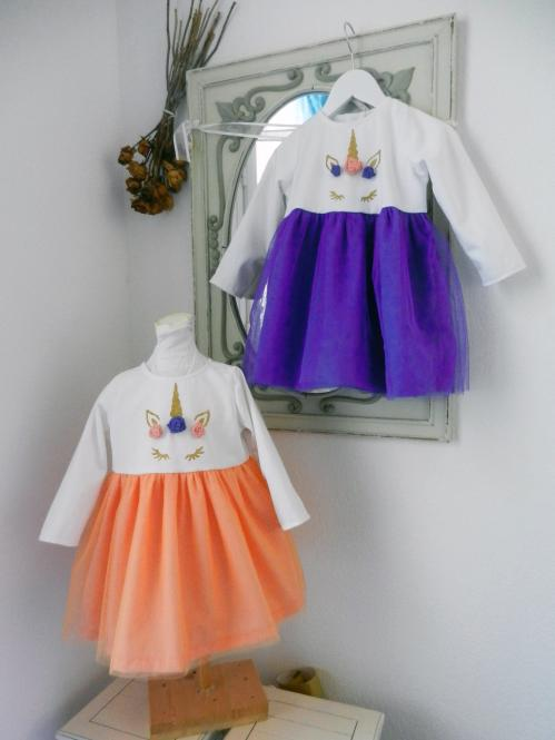 Duchesse or ange doa 290 robe licorne bebe enfant baby child unicorn dress a
