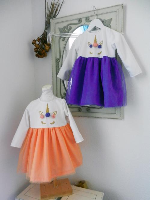 Duchesse or ange doa 290 robe licorne bebe enfant baby child unicorn dress a