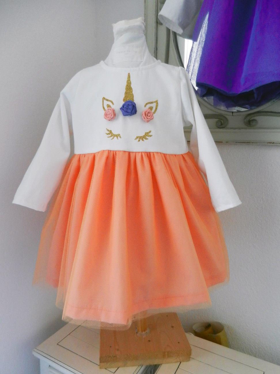 Duchesse or ange doa 290 robe licorne bebe enfant baby child unicorn dress b