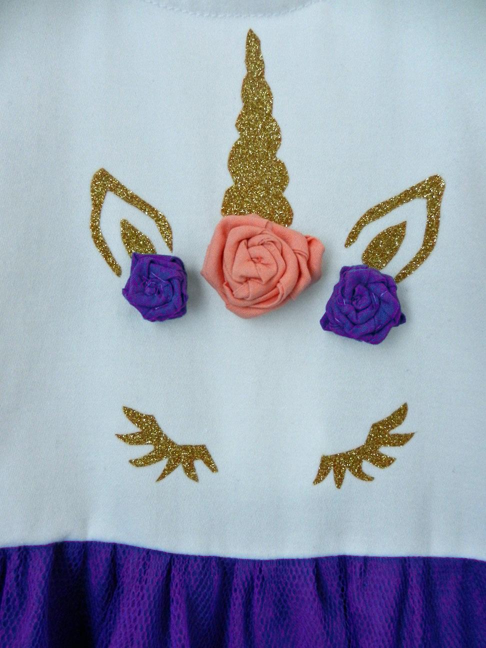 Duchesse or ange doa 290 robe licorne bebe enfant baby child unicorn dress c