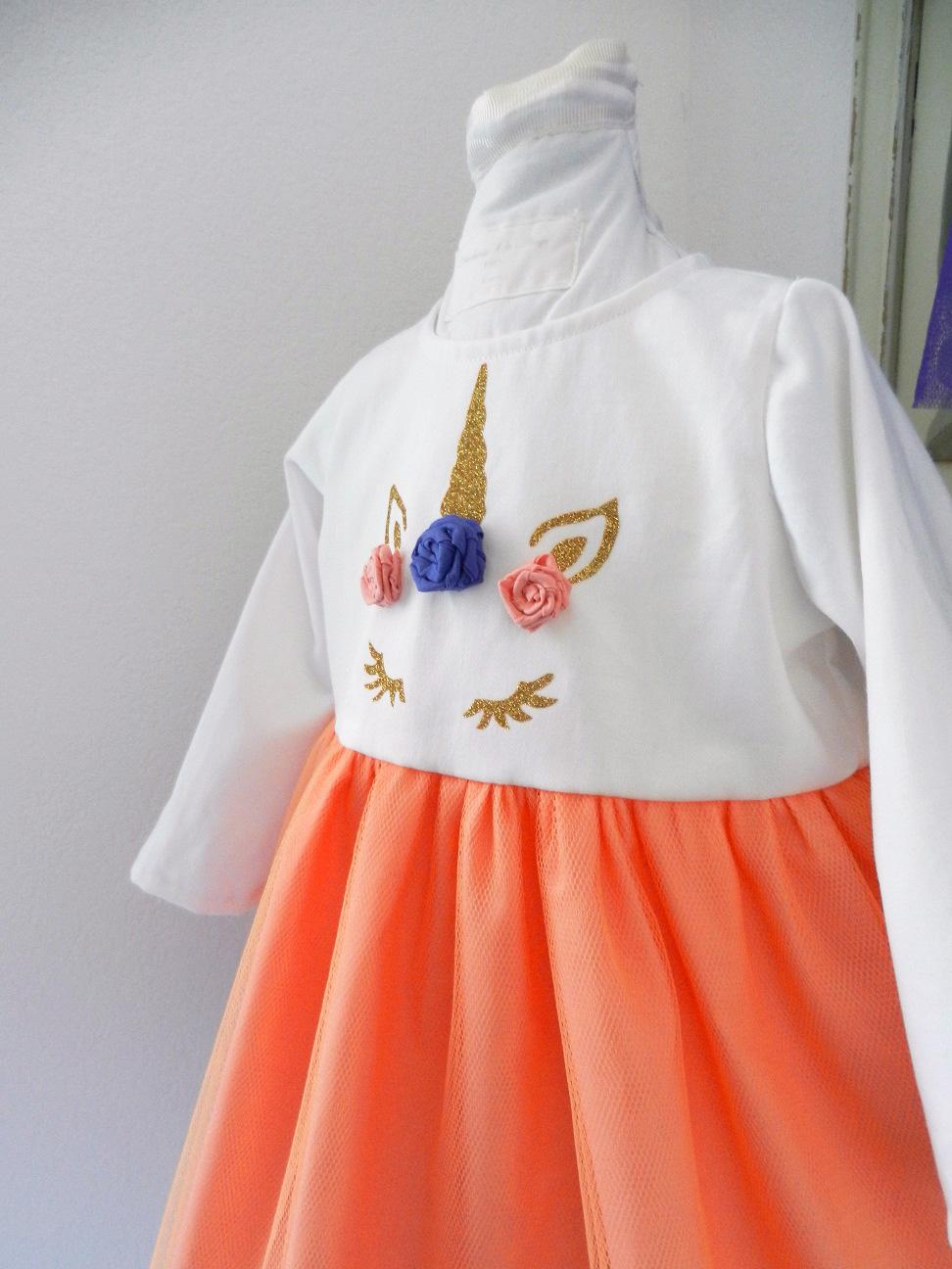 Duchesse or ange doa 290 robe licorne bebe enfant baby child unicorn dress d