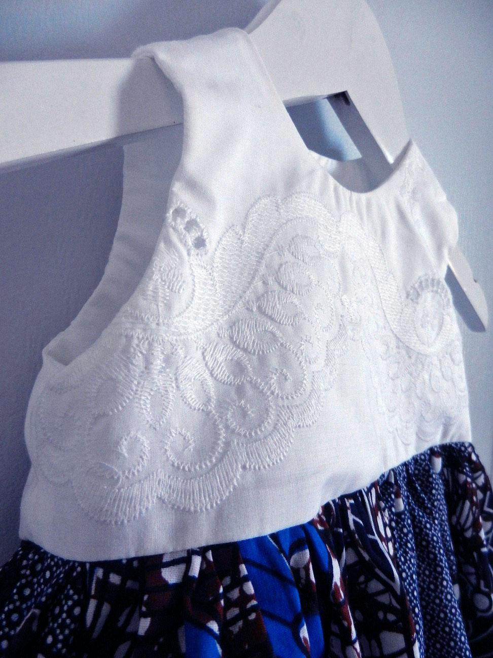 Duchesse or ange doa 291 robe wax dentelle bebe enfant baby child lace wax dress b modifie 1