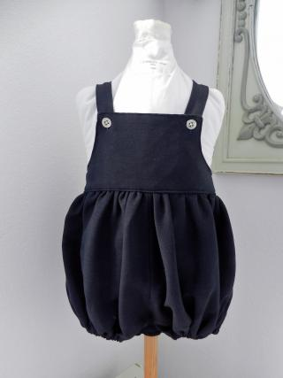 Duchesse or ange doa 299 barboteuse bleu marine navy baby rompers a