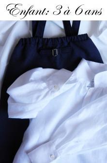 Duchesse or ange pantalon chemise lin iconef