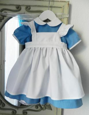 Sky blue dress and white apron Alice