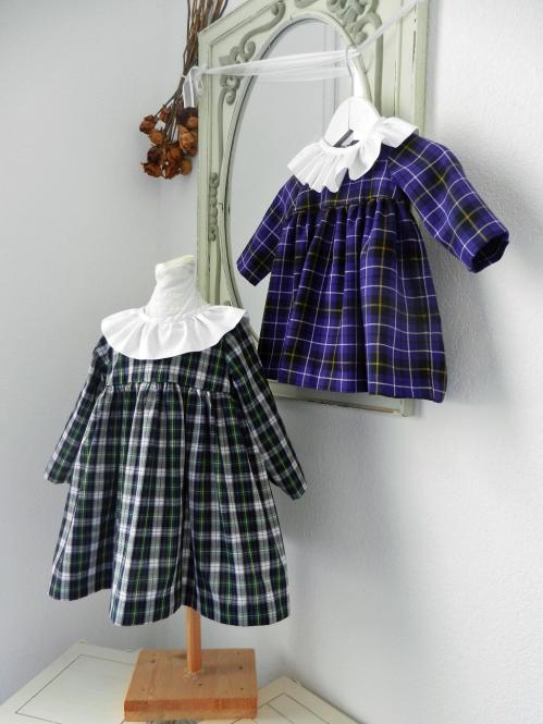 Duchesse or ange robe bebe noel christmas baby dress tartan ecossais