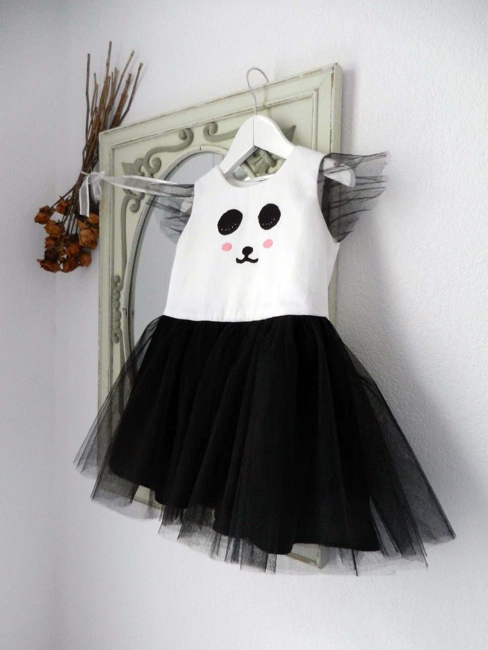 Duchesse or ange robe panda dress c