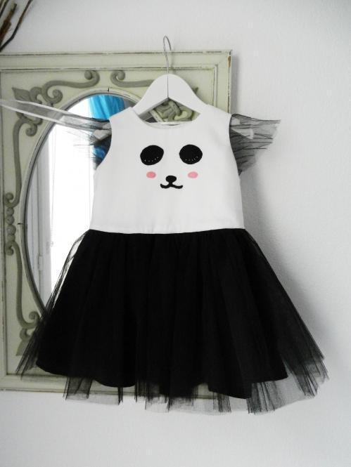 Duchesse or ange robe panda dress f