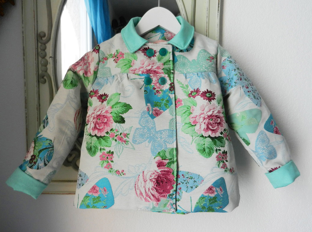 Duchesse or ange veste papillons vert enfant 6 ans child jacket butterfly green 6 years old a 1