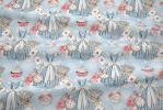 110 coton satine alice fond bleu