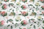 116 coton satine boutons de roses
