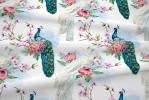 119 coton satine oiseau de paradis