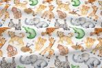 121 coton satine animaux de la jungle