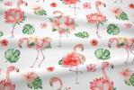 122 coton satine flamands roses fleurs