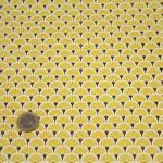 17 cretonne coton japonais eventails jaune