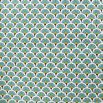 18 cretonne coton japonais eventails lagon