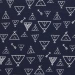 24 coton leger bleu marin imprime tipis