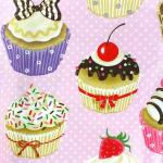 29 coton oeko tex cupcakes fond rose pois blancs