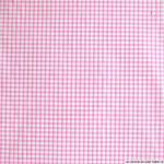 32 coton vichy rose