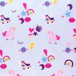 36 coton licornes etoiles et coeurs multicolores
