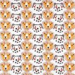 57 coton blanc lions et ours