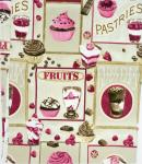 73 fruits pastries glass cups