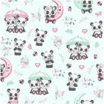 85 pandas parapluies roses vert amande